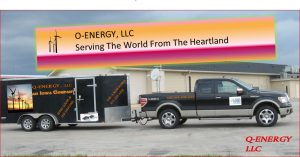 Q-Energy Logo with truck